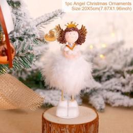 Boże narodzenie anioł lalka wesołych świąt dekoracje świąteczne dla domu boże narodzenie Elf drzewo wisiorek 2019 Xmas prezenty