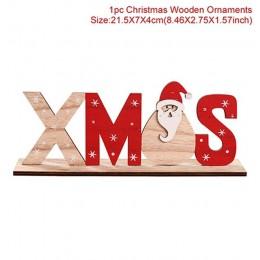 2019 Xmas drewniane ozdoby świąteczne dekor w kształcie drzewa dekoracje na święta Bożego Narodzenia dla domu boże narodzenie De