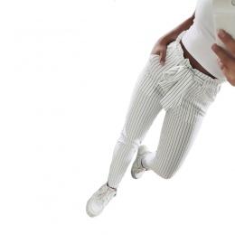 2018 Nowe Paski OL szyfonu wysokiej talii spodnie harem kobiet stringyselvedge lato stylu dorywczo spodnie kobiece spodnie