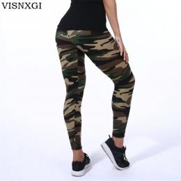 VISNXGI Wysokiej Jakości Kobiety Legginsy Wysoka Elastyczna Skinny Kamuflaż Legging Wiosna Lato Odchudzanie Kobiety Rozrywka Jeg