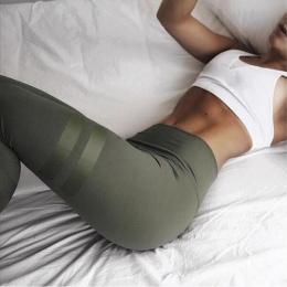 3 Kolory Zieleń wojskowa Sporting Legginsy Fitness Odzież Dla kobiet Szybkie Suche Spodnie Wysoka Talia Legginsy Fitness Workout