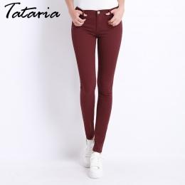 Dżinsy Kobiece Spodnie Jeansowe spodnie Cukierki Kolor Kobiet Jeans Donna Odcinek Dna Feminino Skinny Spodnie Damskie Spodnie 20