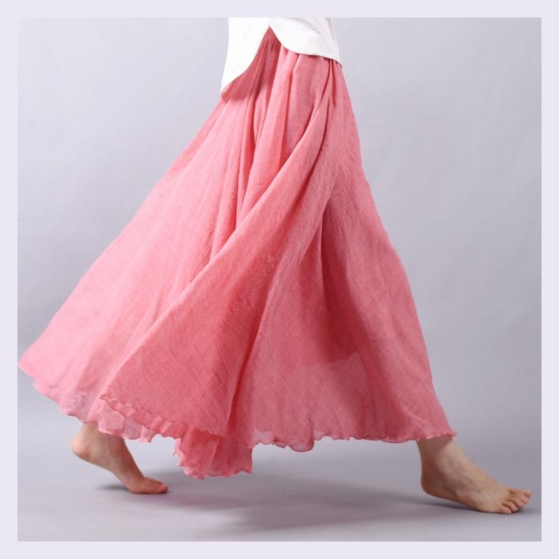 e17e8239 Sherhure 2018 Kobiety Pościel Bawełniana Długie Spódnice Pasie ...