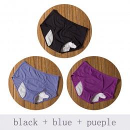 3 sztuk/zestaw majtki menstruacyjne kobiety seksowne spodnie wyciek dowód nietrzymanie moczu bielizna okres bawełniane, majtki w
