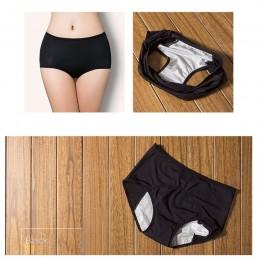 Wyciek dowód okres menstruacyjny majtki kobiet bielizna fizjologiczne spodnie bawełniane zdrowie bez szwu majtki wysokiej talii