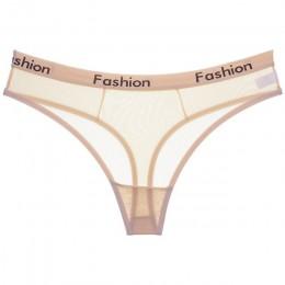 Owinąć konstrukcja seksowne panie bawełniane siatki przeźroczyste majtki stringi stringi bielizna moda niski wzrost kobiety biel