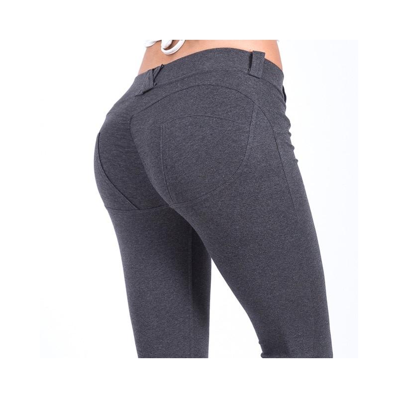 07f5dcdfff811c ... HEYJOE S-XL Kobiet Niskiej Talii Spodnie Push Up Sexy Hip Stałe Spodnie  Dla Kobiet ...