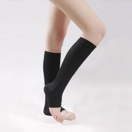 Pończochy uciskowe kolana wysokie Open Toe mężczyźni kobiety wsparcie pończochy 18-21mm