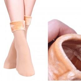 1 para kobiety Winter Warm zagęścić termiczne miękkie dorywczo jednolity kolor skarpety z wełny kaszmirowy domu śnieg buty aksam