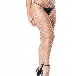 2019 Hot sprzedaż kobiety Lady Sexy duża siatka pończochy rajstopy kobiet wysokie elastyczne rajstopy siatki kabaretki wyroby po