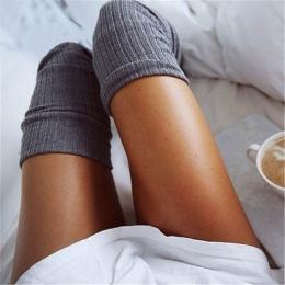 Pończochy 7 Kolory Moda damska Pończochy Sexy Ciepłe Udo Wysokiej Over The Knee Socks Długie Bawełniane Pończochy Dziewczyny Pan