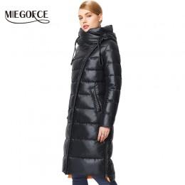 MIEGOFCE 2019 modny płaszcz kurtka damska ciepłe parki z kapturem Bio Fluff płaszcz z kapturem wysokiej jakości kobieta nowa kol