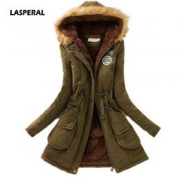 LASPERAL 2019 nowe parki kobiet kobiety płaszcz zimowy pogrubienie bawełny kurtka zimowa moda damska znosić parki dla kobiet zim