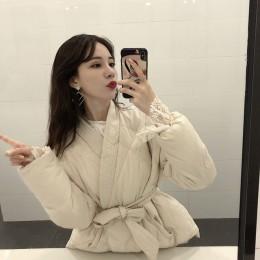 Hzirip 2019 nowy projekt kobiet kobiety zima stałe Sashes płaszcz grube wysokiej jakości studentów znosić słodkie kobiety Plus r