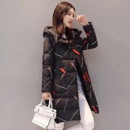 Elegancka z długim rękawem ciepły zamek parki kobiety kurtka zimowa urząd Lady 2019 nowa moda zima długa kurtka z kapturem płasz