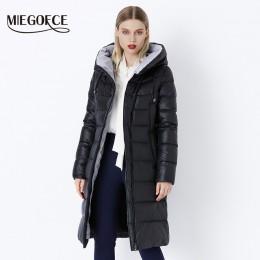 MIEGOFCE 2019 płaszcz kurtka zimowa damska ciepłe parki z kapturem Bio Fluff płaszcz z kapturem wysokiej jakości kobieta nowa ko