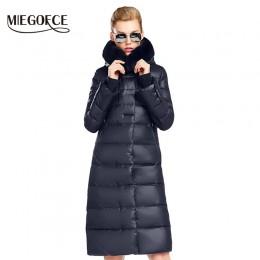 MIEGOFCE 2019 kobiet płaszcz kurtka średniej długości kobiet Parka z futra królika gruby płaszcz zimowy kobiety nowa kolekcja zi