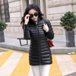 Jesień zima kobiety podstawowe kurtki żakiet kobiet szczupła z kapturem marki bawełna płaszcze Casual kobiet średniej długości k