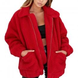 Moda bluza z kapturem z polaru futro płaszcz 2019 kobiet jesień zima ciepłe miękkie kurtka gruby pluszowy płaszcz krótki odzież