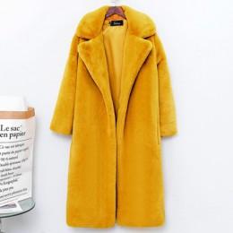 Zima moda nowy wysokiej jakości imitacja aksamitne futro płaszcz długi futrzany płaszcz kobiet luźne grube ciepłe futro z norek