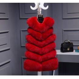 Kobiety Faux futro kamizelka kurtka zimowa bez rękawów manteau femme hiver