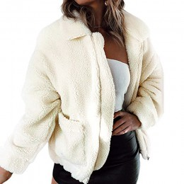 Srebrny zamek błyskawiczny bluza z kapturem z polaru futro płaszcz kobiety jesień zima ciepłe miękkie kurtki gruby pluszowy płas