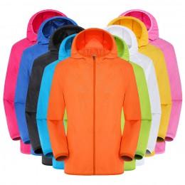 Mężczyzna kobiet kurtki okazjonalne Plus rozmiar cukierki kolor wiatroszczelna, ultralekka, odporny na deszcz, wiatrówka z kaptu