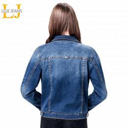 2019 LEIJIJEANS kobiety Plus rozmiar 6XL długi podstawowy jeansowa kurtka płaszcz Bleach pełna rękawem pojedyncze piersi szczupł