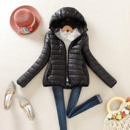8-kolor wydanie aktualizacji w 2019 super ciepłe zimowa kuteczka płaszcz panie kobiety kurtka Slim krótkie wyściełane kobiety