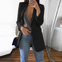 Letnie ubrania dla kobiet 2019 nowy Casual kobiety Slim długie rękawy skręcić w dół kołnierz sweter połowy trwały płaszcz