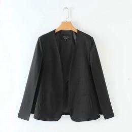 Podział projektu kobiety płaszcz płaszcz wierzchni na co dzień pani czarny i biały kurtka moda streetwear luźne odzież wierzchni