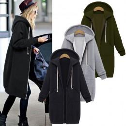 LASPERAL jesień zima płaszcz kobiety 2019 moda na co dzień długi zamek z kapturem kurtka z kapturem bluza z kapturem w stylu Vin