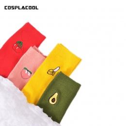 Cute Cartoon Owoce Druku Awokado Banana Cherry Peach Dziewczyny Kawaii Śmieszne Skarpetki Kupie Kupie Skarpetki meias Koreański