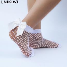 Chic kobiet Harajuku Oddychające Biały Bow knot Kabaretki Skarpetki. Sexy Hollow out Mesh Siatki Skarpety Damskie dziewczyny Lol