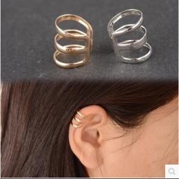E 007 1 sztuka Nowy punk rock uszu klip silver gold mężczyźni i kobiety bez ucha piercing kolczyki party biżuteria para biżuteri