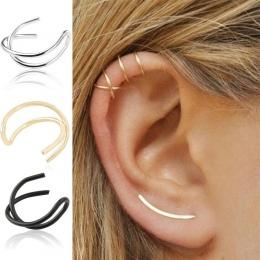 Chrząstki Ucha Klip Proste Klip Na Kolczyki Biżuteria 1 Para Moda Wrap Kobiety Kolczyki Ear Cuff Nie Piercing Stadniny Osobowośc