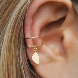Archiwalne liść klip na kolczyki nie przebili ear cuff pendientes de klip kobiety kolczyki ucha kurtka wrap earcuff brincos