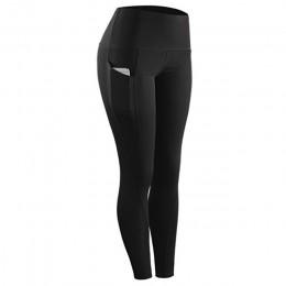 2019 wysokiej talii sportowe legging z kieszonką dla kobiet moda nowy kobiet treningu spodnie rozciągliwe plus rozmiar elastyczn