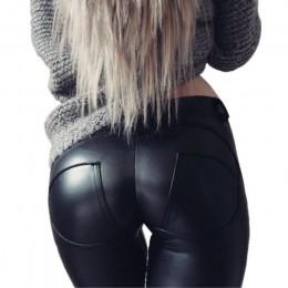 FQLWL legginsy ze skóry ekologicznej gruby/czarny/Push Up/legginsy z wysokim stanem kobiety Plus rozmiar zima Legging seksowne s