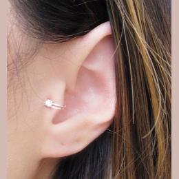 Gorący Sprzedawanie Unisex Lato Style Złoty/Posrebrzane Cyrkonia Skrawka Ear Cuff Klip Kolczyk Dla Kobiet Mody Kolczyk 2018