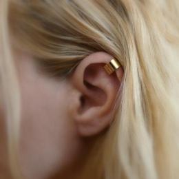 H: HYDE Nowy 1 pc Osobowości Klip Kolczyk Dla Kobiet Sliver & Gold Kolory Proste Ear Biżuteria Mody Punk biżuteria Hurtowych