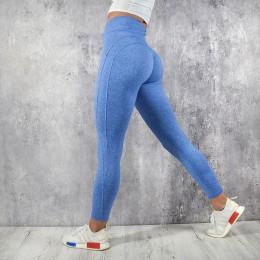NORMOV Fitness legginsy kobiety wysokiej talii trening leginsy push-up Casual kobiety spodnie Mujer patchworkowe legginsy Plus r
