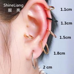 2 sztuk Unisex Punk Clip on ear bez piercing nie hole Fałszywe Ciała Nos Lip Hoop Pierścionki Biżuteria Kolczyki dla kobiety męż