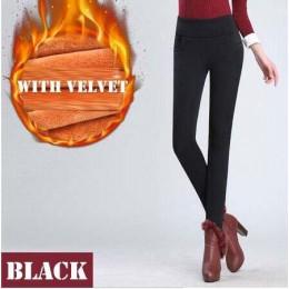 WKOUD S-4XL pani na co dzień legginsy zimowe ciepłe aksamitne zagęścić legginsy wysokiej talii spodnie kobiety śnieg gorące legg