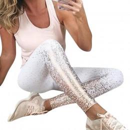 HEFLASHOR 2019 Sexy Women legginsy gotycki siatkowy design spodnie spodnie czarna wąska sportowa odzież nowe legginsy Fitness
