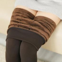YGYEEG 2019 nowy Plus kaszmiru modne legginsy kobiety dziewczyny ciepłe zimowe jasne aksamitne grube dzianiny Legging bardzo ela