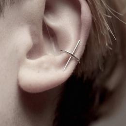 1 szt fajne mody prostota zaprojektowana miedzi metalowy kij auricle non piercing uszu ear cuff kolczyki brinco de meninas