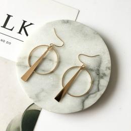 Korea południowa Biżuteria Kolczyki Temperament Proste Retro Długa Linia Geometryczna Koło Ucha Kolczyki Dla Kobiet Oświadczenie