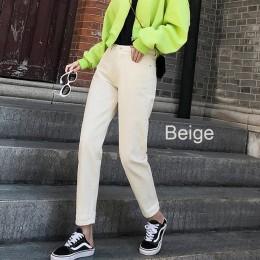 Dżinsy dla kobiet wysokiej talii Harem mama dżinsy 2019 bawełna plus rozmiar 5XL niebo niebieski biały vintage Jeans spodnie jea