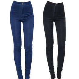 2019 nowych moda Jeans kobiety ołówek spodnie wysokiej talii dżinsy Sexy Slim elastyczne spodnie obcisłe spodnie Fit dżinsy dams